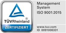 TÜV Rheinland Zertifikat RBB Aluminium