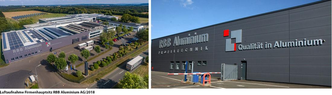 Luftaufnahme Firmenhauptsitz RBB Aluminium AG 2018