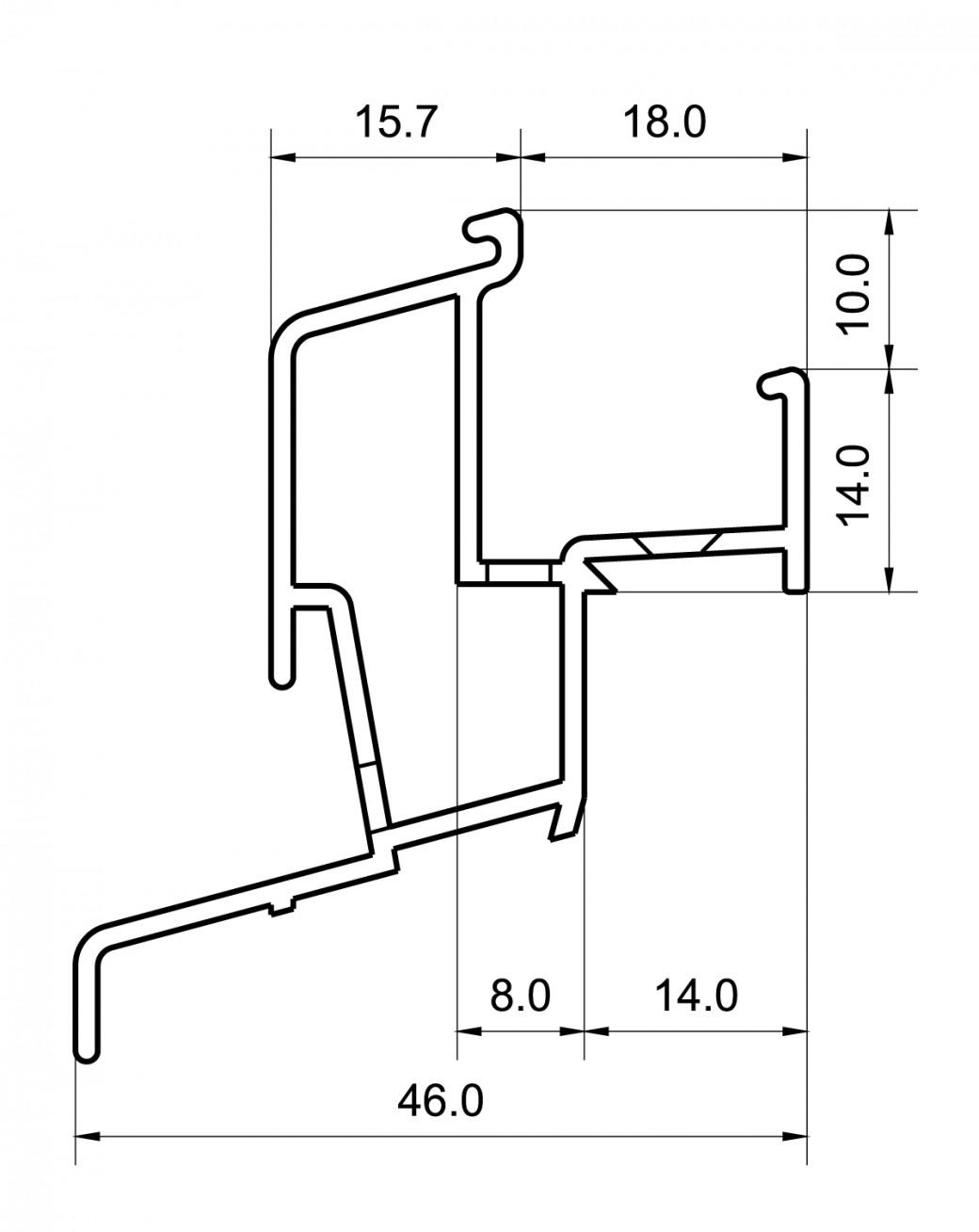 Regenschutzschienen RG 1232 RBB-Aluminium
