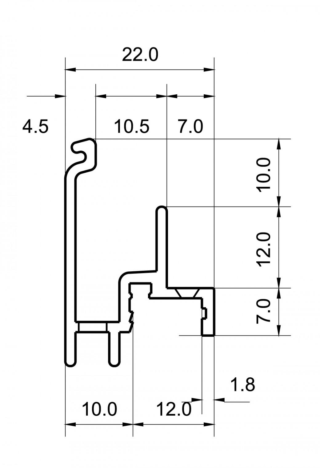 Regenschutzschienen RG 805 RBB-Aluminium
