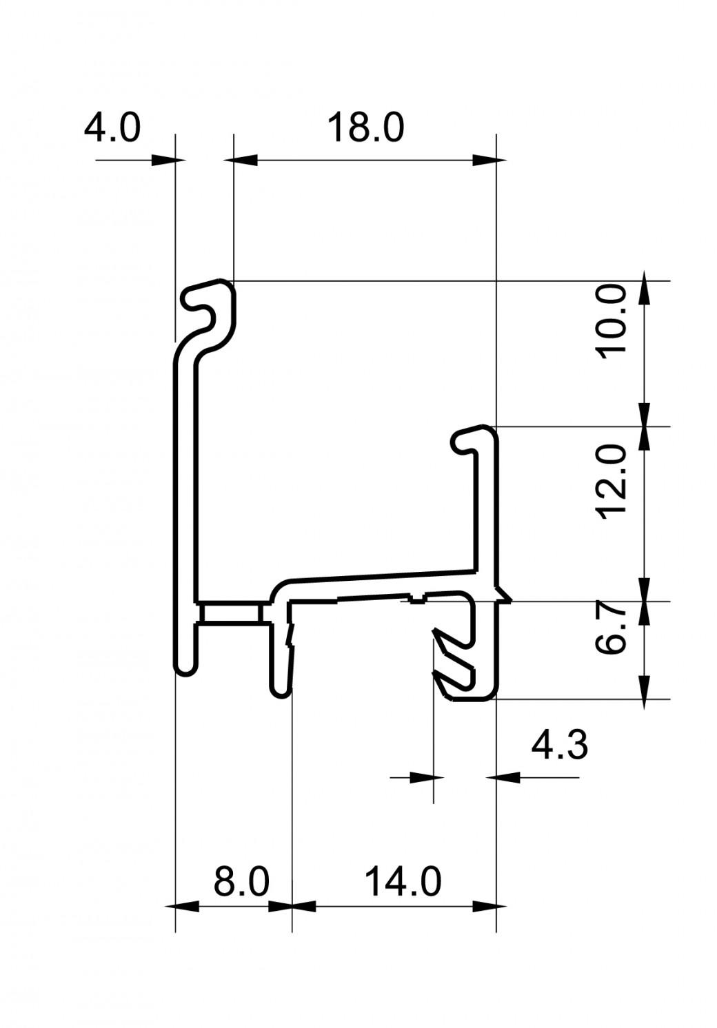 Regenschutzschienen RG 869 RBB-Aluminium