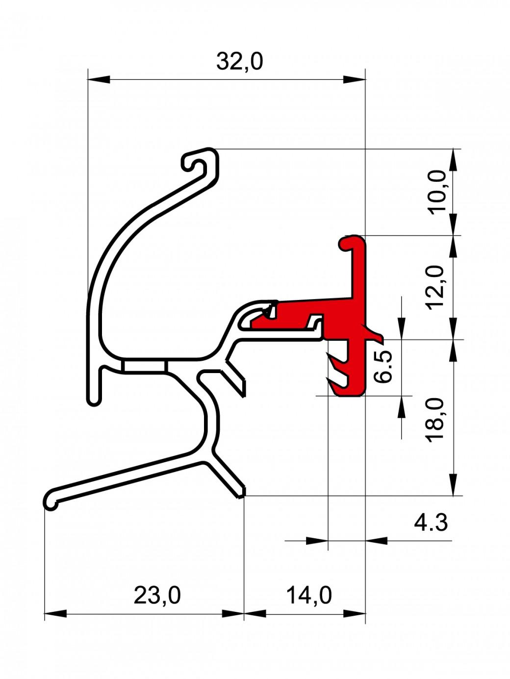 THERMO REGENSCHUTZSCHIENE TRG 1425